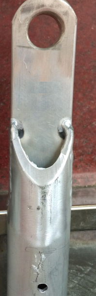 aluminium pole top
